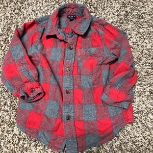 BabyGap gray and red plaid flannel 2T